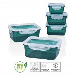 GOURMETmaxx Frischhaltedosen Klick-it 10-tlg. in Smaragd