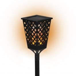 PRIMA GARDEN LED Solar-Fackelleuchte | Fackeleffekt| Kabellos