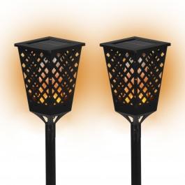 PRIMA GARDEN LED Solar-Fackelleuchte 2er Set