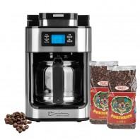 Barista Kaffeeautomat Mahlfunktion 1050W Edelstahl/schwarz + 2x Kaffee Portorico Caffè - Lieferumfang Freisteller