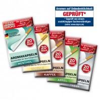CLEVER SMOKE - Aromakapseln 20er Set - Kaffee - Varianten