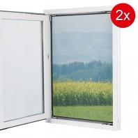EASYmaxx Fenster-Moskitonetz mit Magnetbefestigung 150x130cm in Schwarz - 2er-Set