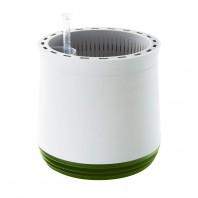 AIRY System M - Luftreinigender Blumentopf für saubere Raumluft - inkl. Mineralsubstrat - weiß/grün