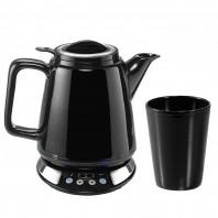 BEEM Wasser- & Teekocher Porzellan 1630W Schwarz mit Becher