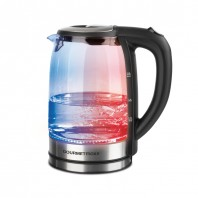 GOURMETmaxx Glas-Wasserkocher mit LED-Farbwechsel - Farbwechsel