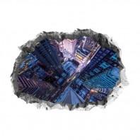 EASYmaxx Bodensticker 3D New York Wolkenkratzer 90x60cm mehrfarbig