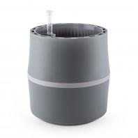AIRY System S - Luftreinigender Blumentopf für saubere Raumluft - inkl. Mineralsubstrat - hellgrau/grau