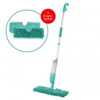 CLEANmaxx Spray-Mopp 2in1 in Türkis mit 2x Ersatz-Wischtuch