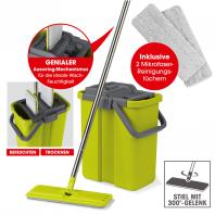 CLEANmaxx Wischsystem Komfort-Mopp - Grau/Grün