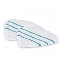 CLEANmaxx Ersatz-Bodentuch 2er-Set - weiß - Für Dampfbesen mit Gelenk