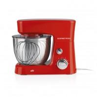 GOURMETmaxx Küchenmaschine - Mit 6 Geschwindigkeitsstufen - rot