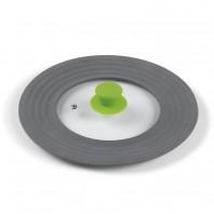 BRATmaxx Universal-Deckel Silikon - Backofengeeignet bis 180 °C - grau/limegreen
