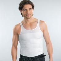Figur Body - Herrenunterhemd, 2er Set, weiß - Frontansicht