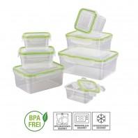 Frischhaltedosen Set Klick-It Gefrierdosen Lunchbox Brotdose Dose 7 Stück klar
