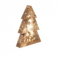 christmaxx LED-Holztannenbaum Winterwald - Bei Tag