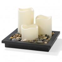 candlemaxx Deko-Tablett mit LED-Kerzen, 5-teilig - Freisteller