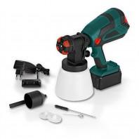 EASYmaxx Akku-Farbpistole - 1000 ml Farbmittelbehälter - schwarz/grün/rot