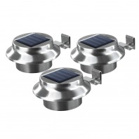 EASYmaxx Solar Dachrinnenleuchten Edelstahl 3er-Set