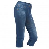 Figur Body Slim Jeans Leggings 3/4 in blau