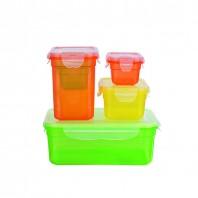 GOURMETmaxx Frischhaltedosen Klick-it 12-tlg. in Gelb, Grün und Orange - Freisteller