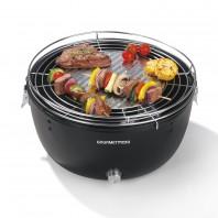 GOURMETmaxx Holzkohle-Grill 6V in Schwarz mit elektrischer Aktivbelüftung