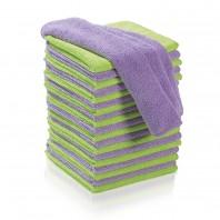 CLEANmaxx Reinigungstücher Mikrofaser 20-tlg., limegreen + flieder (je 10 Stück)