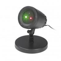 EASYmaxx Laserstrahler Lichtpunkte rot+grün 10W in Schwarz