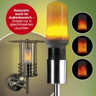 EASYmaxx LED-Glühlampe Flammeneffekt E27 1W - Weiß