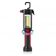 EASYmaxx LED-Arbeitsleuchte 7in1 4,5V in Schwarz/Rot