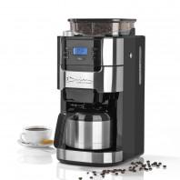 Barista Kaffeemaschine mit Mahlwerk mit Isolierkanne - 1000 Watt - Edelstahl/schwarz