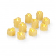 EASYmaxx LED-Kerzen-Set Tropfen-Optik 10-tlg. in Gelb