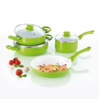 bratmaxx Keramik Koch- & Bratset, 7-teilig, grün - Freisteller