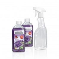EASYmaxx Reinigungsmittel Lavendelreiniger 3-tlg., 2x 500 ml inkl. Sprühflasche