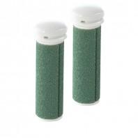 emjoi Micro Pedi Ersatzrollen 2er-Set, sehr grob, grün