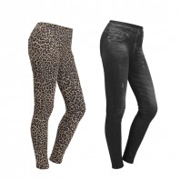 Figur Body Slim Jeans Jeggings 2er-Set in Schwarz & Leo - Freisteller 1