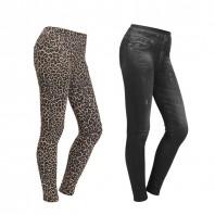 Figur Body Slim Jeans Jeggings 2er-Set in Schwarz & Leo - Freisteller 1