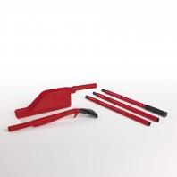 CLEANmaxx Dachrinnen-Reiniger Set 3-tlg. in Rot/Schwarz - Set