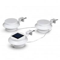 EASYmaxx Solar-Leuchte Dachrinne rund 3er-Set 3,7 V in Weiß mit Bewegungsmelder - Freisteller