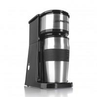 GOURMETmaxx Edelstahl-Kaffeemaschine Thermobecher in Schwarz