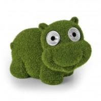 "EASYmaxx Solar-Figur ""Hippo"" - Moos-Optik - 8 Stunden Leuchtdauer - grün"