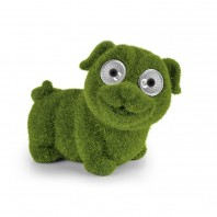 "EASYmaxx Solar-Figur ""Hund"" - Moos-Optik - 8 Stunden Leuchtdauer - grün"