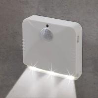 EASYmaxx LED-Sensorlicht - eckig - Mit Bewegungsmelder - 2er-Set - weiß
