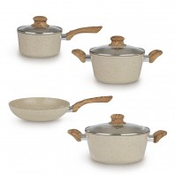 BRATmaxx Keramik-Koch- & Bratset 7-tlg. in Creme - Freisteller 1
