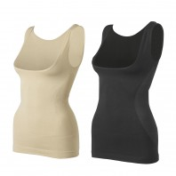 SLIMmaxx Shaping-Top 2er-Set in Beige/Schwarz