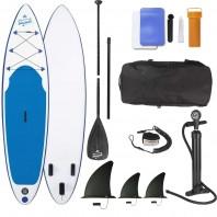 EASYmaxx Stand-Up Paddle-Board - 320 x 76 x 15 cm - weiß/blau