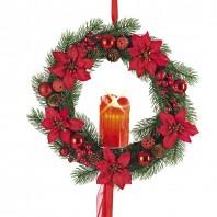 christmaxx Weihnachtskranz mit LED-Echtwachskerze