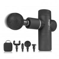 MAXXMEE Mini Massage Gun Pro - 6 Leistungsstufen mit integriertem Power-Boost - Schwarz