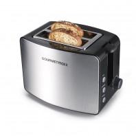 GOURMETmaxx Toaster in Edelstahl/Schwarz - Freisteller