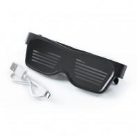 EASYmaxx LED-Brille App gesteuert 3,7V schwarz