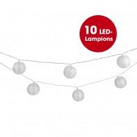 EASYmaxx Solar-Lichterkette Lampions - Bis zu 8 Stunden Leuchtdauer - weiß